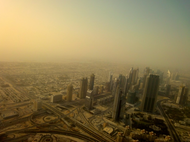 Persian Gulf seen from Burj Khalifa