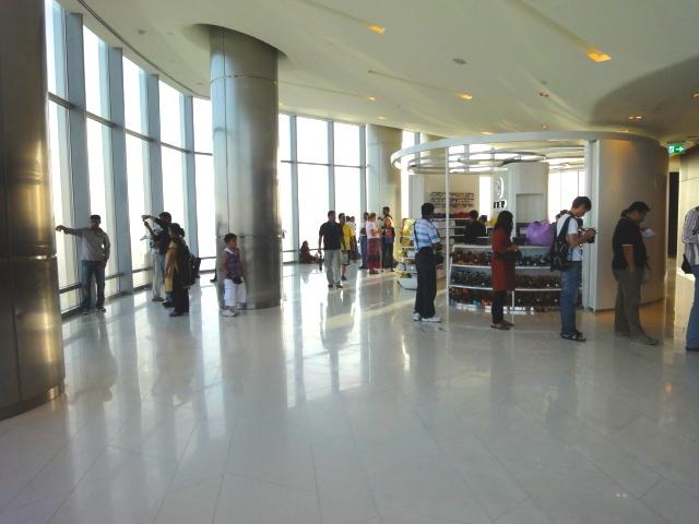 at 124 Floor, Burj Khalifa.