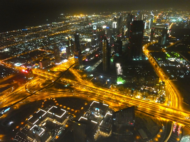 Nite view of The Dubai Downtown
