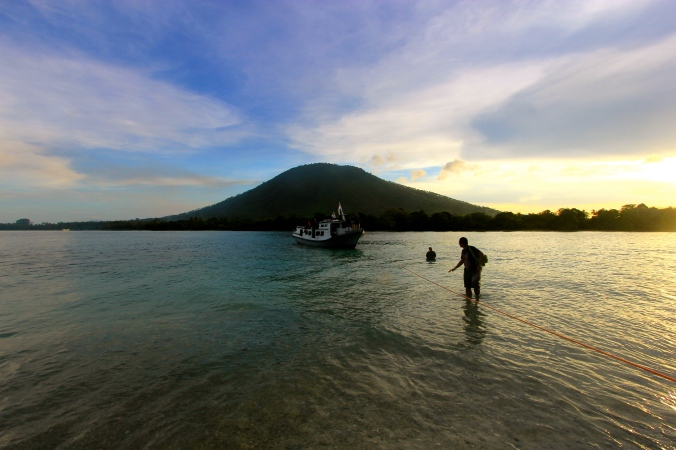 Sebesi Island, one of inhabited island near Krakatau.