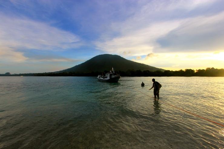 Sebesi Island, one of inhabited island near Krakatau.