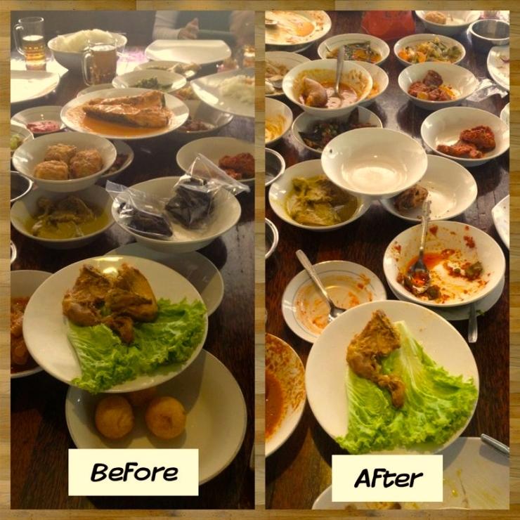 Nasi Kapau entah dari Restoran mana
