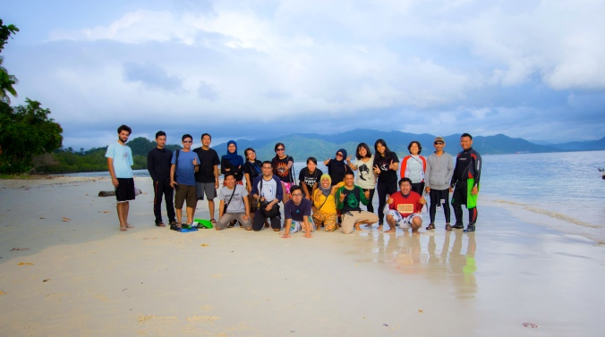 with BPI strangers in Kelagian Island (coutesy of Amri )