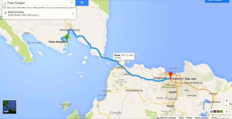 Summary How to get there : Jakarta - Merak Port - Bakauheni Port - Bandar Lampung - Ketapang Port - Kelagian Island