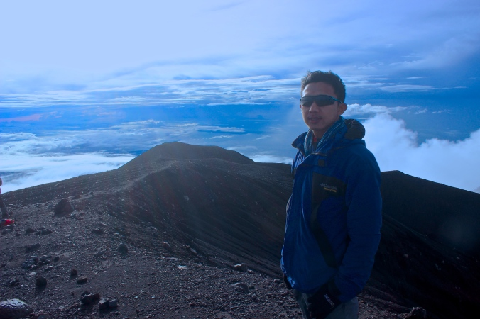 At the Peak of Mount Semeru