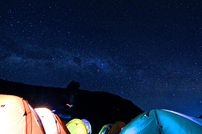 Milky-Way over the sky of Rinjani