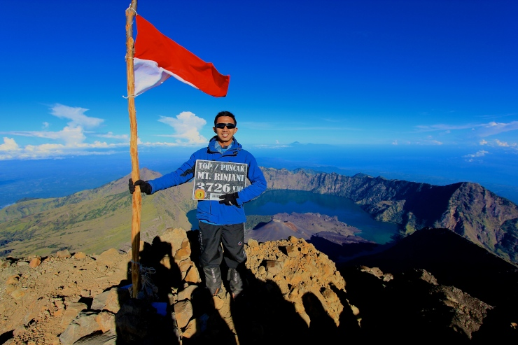 Finally, the peak of Rinjani.