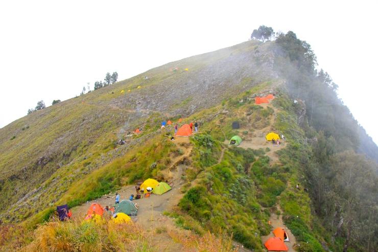 Senaru Rim Camp site
