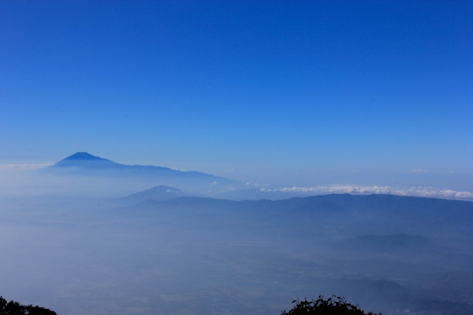 Mt. Slamet, Central java's Peak, Seen from Mt. Ciremai