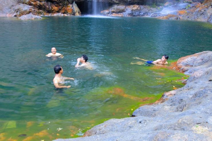 Lagoon at Cunca Rami Waterfalls